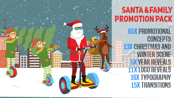 Santa and Family Promotion Pack