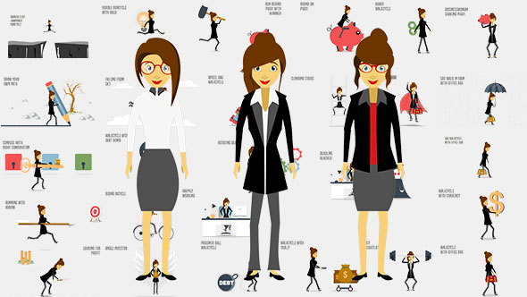 Business Woman Animation